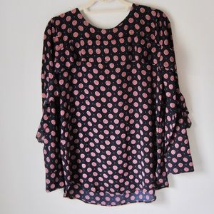 Banana Republic Medallion Printed Navy Tunic